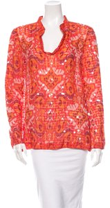 Tory Burch Top Silk Tangerine
