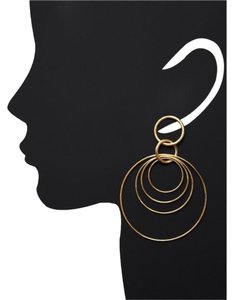 Rivka Friedman 18K Rivka Friedman Multi Satin Open Circle Drop Earrings