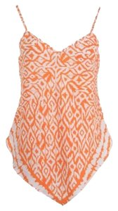 INC International Concepts Polyester Top Orange Printed