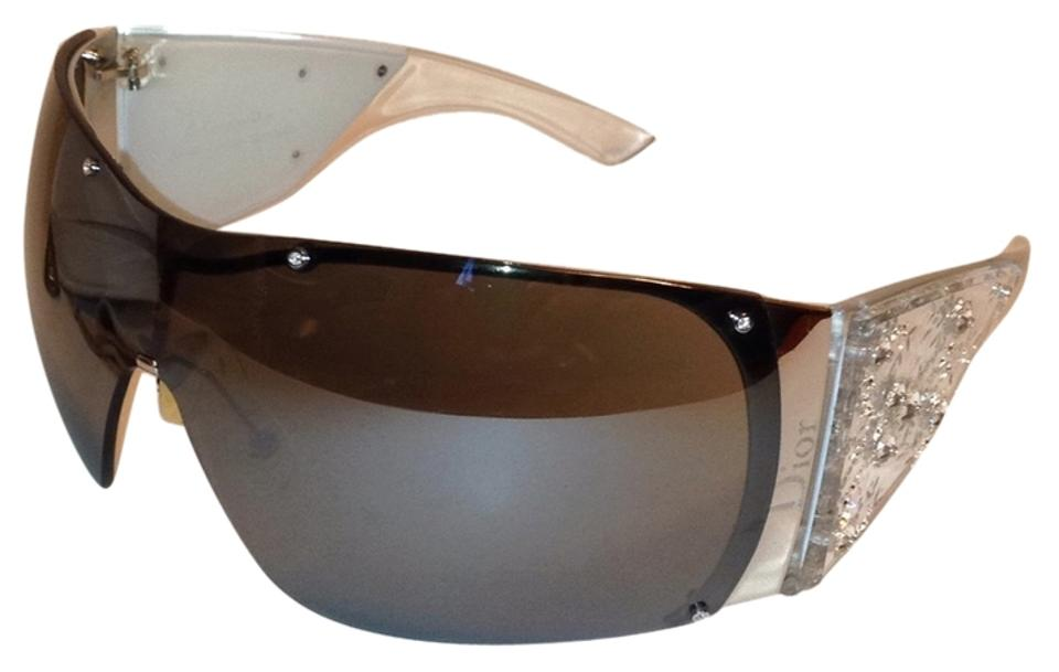 191fc60e92e Dior Limited Edition Dior Oversized Mirrored Lens Visor Sunglasses Image 0  ...