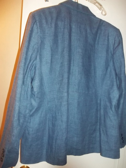 Style & Co Fall Jacket Lined Jacket Button Front Blue Denim Blazer Image 1