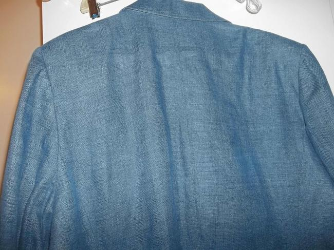 Style & Co Fall Jacket Lined Jacket Button Front Blue Denim Blazer Image 6