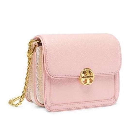 Preload https://item3.tradesy.com/images/tory-burch-duet-chain-micro-pink-leather-shoulder-bag-10183042-0-3.jpg?width=440&height=440
