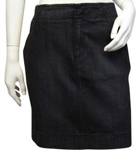 DKNY Double Take Zip Jean Mini Skirt