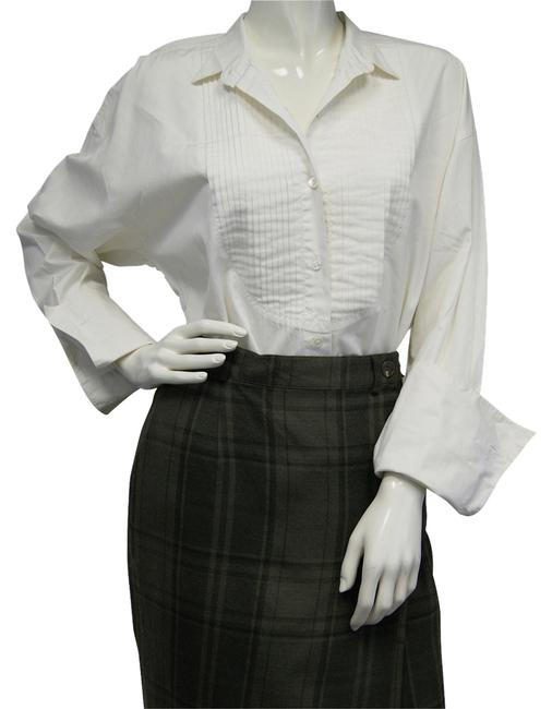 Preload https://item1.tradesy.com/images/dkny-front-pleat-white-m-blouse-size-8-m-10183870-0-1.jpg?width=400&height=650