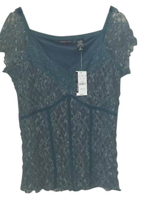 New York & Company Top Slate Blue