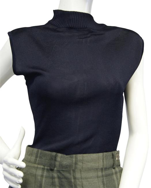 Preload https://img-static.tradesy.com/item/10184293/donna-karan-high-neck-leotard-knit-m-blouse-size-8-m-0-1-650-650.jpg
