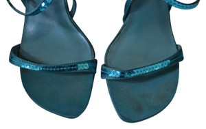 Bakers Open Toe Sequin Turquoise Wedding Prom Blue Sandals