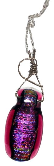 Preload https://img-static.tradesy.com/item/10184662/purple-silver-dichroic-glass-sterling-a059-necklace-0-1-540-540.jpg