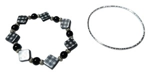 Other Black & Silver 2 Piece Bracelet Set