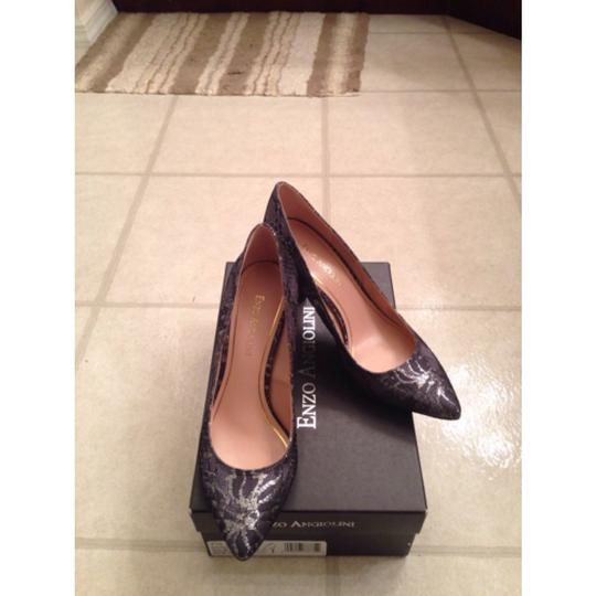 Enzo Angiolini Black and silver Pumps Image 5