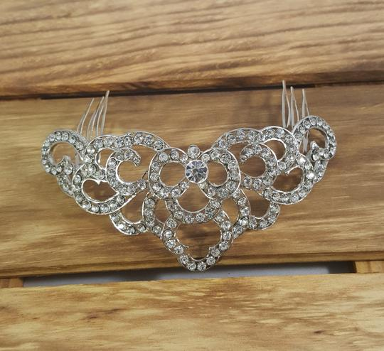 Silver Vintage Spanish Style Comb Hair Accessory