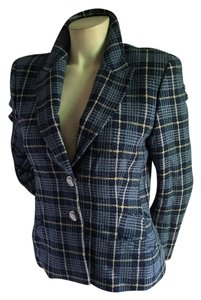 Escada Chanel Tweed Blue Blazer