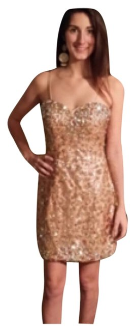 Preload https://item4.tradesy.com/images/gold-above-knee-cocktail-dress-size-4-s-10187248-0-1.jpg?width=400&height=650