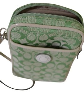 Coach Logo Wristlet in Mint green
