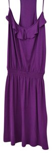 Express short dress Fuchsia Tank Ruffle Cinched Waist on Tradesy