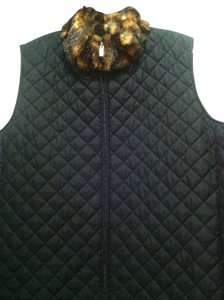 Ralph Lauren Collection Top Black, with faux fur collar