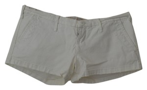 Abercrombie & Fitch Twill Beach Beachy Mini/Short Shorts White