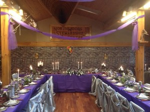 Purple Banquet Table Cloth