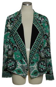 Chico's Open-front Paisley Green Blazer