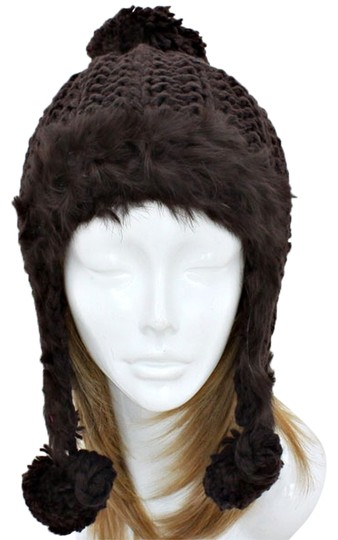 Preload https://item5.tradesy.com/images/brown-lovely-warm-and-chic-knitted-beanie-fur-trimmed-earflap-pompom-winter-cap-hat-10188334-0-1.jpg?width=440&height=440