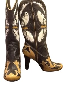 Black book with tan and cream butterfly design Boots