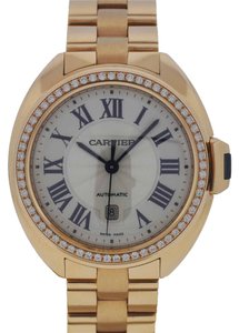 Cartier Cle de Cartier 31mm 18k Rose Gold with Original Diamonds Ladies Watch WJCL0003