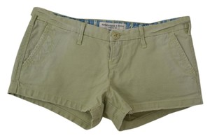 Abercrombie & Fitch Twill Casual Beach Beachy Mini/Short Shorts Green