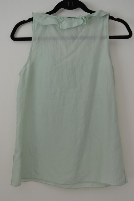 Banana Republic Ruffled Silk Casual Top Mint green
