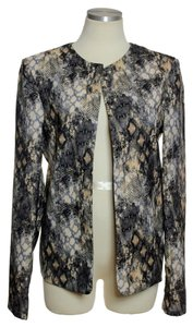Mustard Seed Open-front Phyton Print Brown,Black Blazer