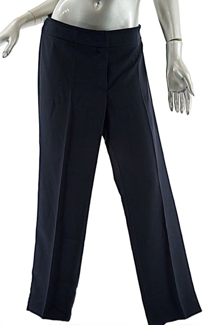 Preload https://img-static.tradesy.com/item/10189042/armani-collezioni-navy-polyester-micro-fiber-clean-front-straight-leg-pants-size-12-l-32-33-0-1-650-650.jpg