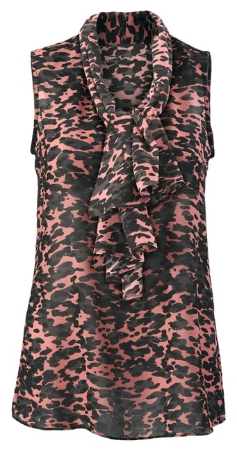 Item - Black & Pink 9 To Blouse Size 6 (S)