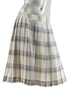 Florence Vintage Paris Pleated Skirt Black with Cream