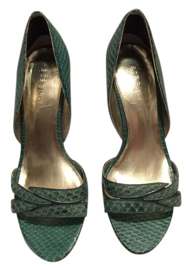 Preload https://item1.tradesy.com/images/bcbgmaxazria-sea-green-pretty-snakeskin-unique-summer-spring-cute-pumps-size-us-55-regular-m-b-10189465-0-1.jpg?width=440&height=440