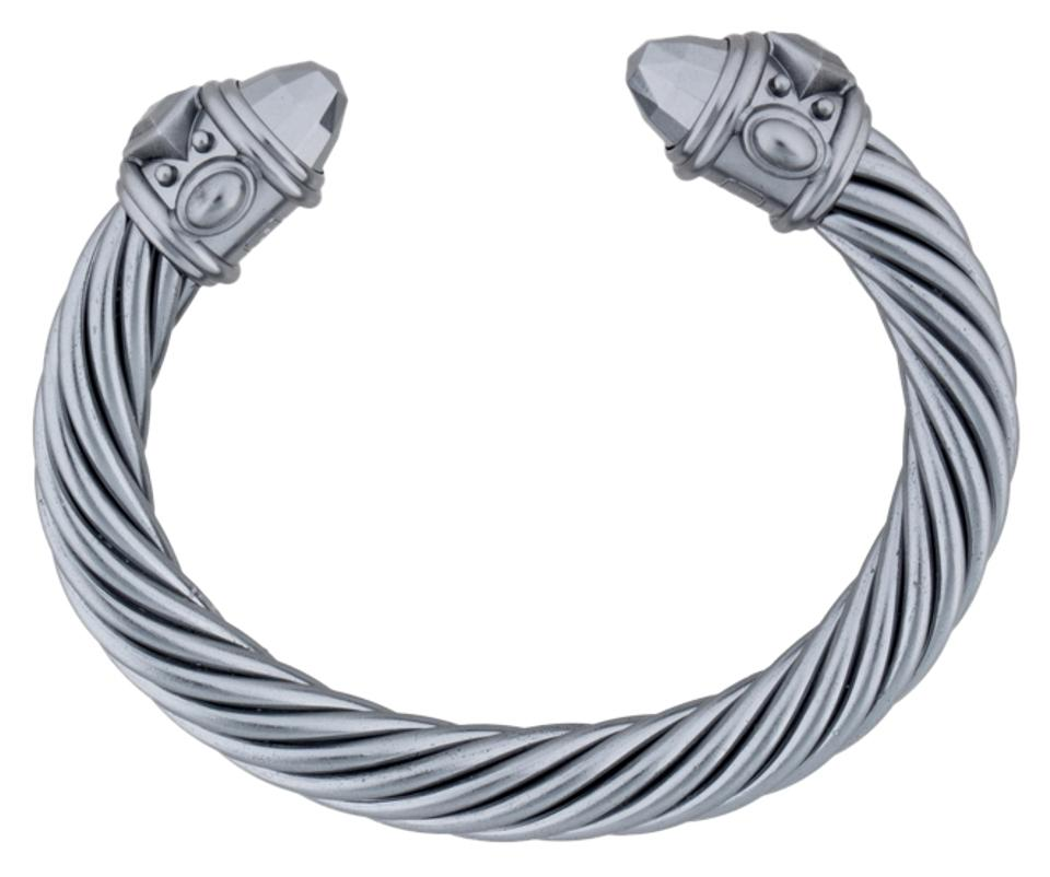 David Yurman Grey Aluminum Limited Edition Renaissance Cable Bracelet New