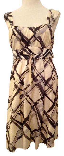 Preload https://item2.tradesy.com/images/nanette-lepore-ivory-with-grey-and-black-paintbrush-plaid-mid-length-cocktail-dress-size-8-m-101896-0-0.jpg?width=400&height=650