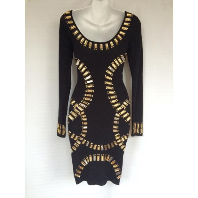 Republic of love black body fitted dress Sz S NWT Dress Image 2