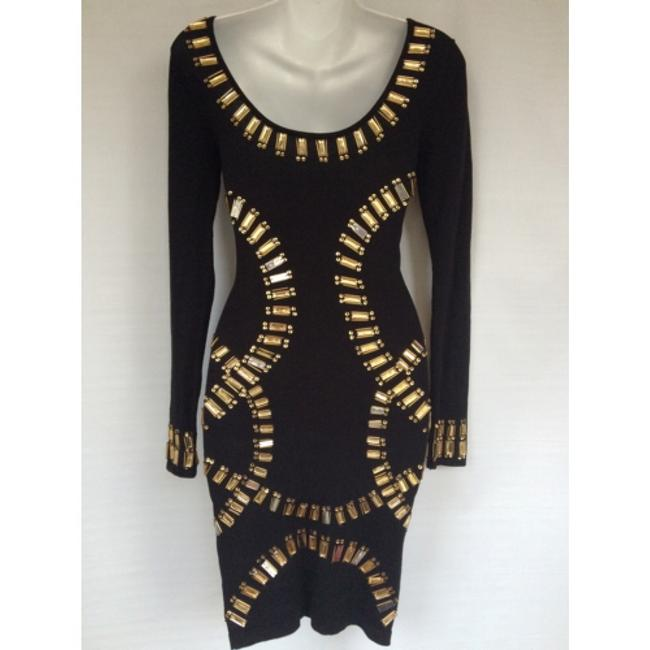 Republic of love black body fitted dress Sz S NWT Dress Image 3