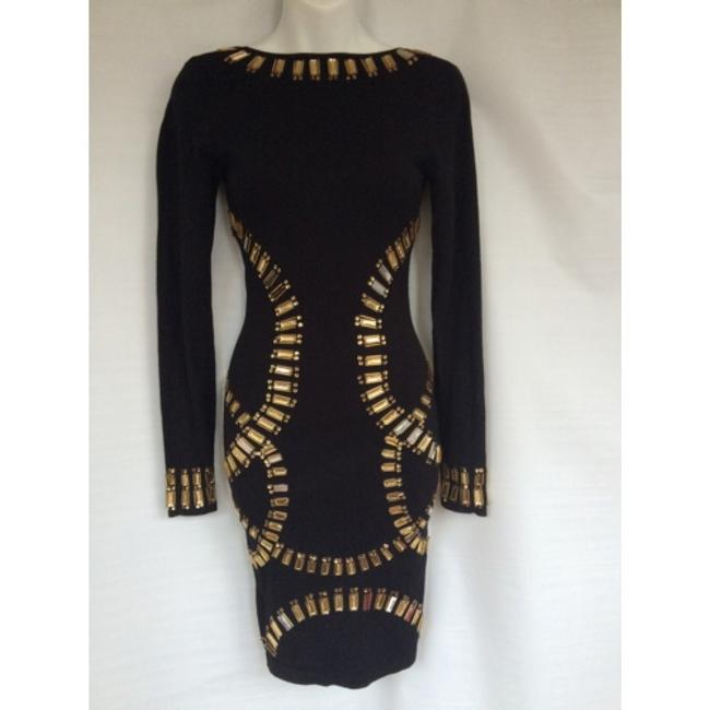 Republic of love black body fitted dress Sz S NWT Dress Image 5