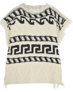 Étoile Isabel Marant Fringed Boho Poncho Fall Sweater
