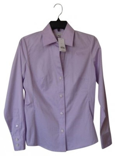 Preload https://item1.tradesy.com/images/banana-republic-lavender-long-sleeve-fitted-blouse-button-down-top-size-4-s-10190-0-0.jpg?width=400&height=650