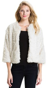 Kensie Faux Fur Soft Cropped Fur Coat