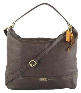 Coach Leather Convertible Cross Body Hobo Bag