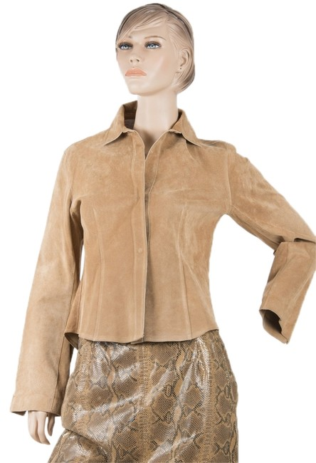 Preload https://img-static.tradesy.com/item/10190314/blacky-tan-suede-blouse-light-brown-ex-condition-small-medium-leather-jacket-size-12-l-0-2-650-650.jpg