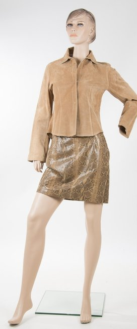 Blacky Suede Suede Dress Tan Leather Jacket