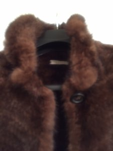 Trilogy Knitted Mink/Fur Jacket Fur Fur Sweater Fur Mink Brown Mink Fur Coat