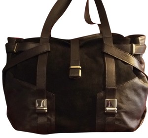 L.K. Bennett Lk Suede Tote in Dark Brown