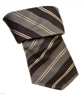 Canali Canali Black Multicolor Striped Silk Men's Tie