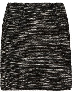 Tibi Mini Mini Classic Tweed Monochrome Mini Skirt Black, White,