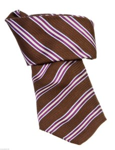 Canali Canali Brown Multicolor Striped Men's Tie